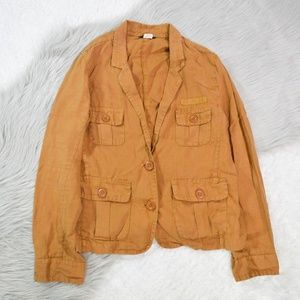 J Crew Womens Jacket Size 8 Brown